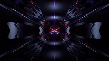 túnel de estilo alienígena de ciencia ficción futurista