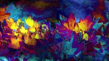 fundo colorido da arte da folhagem de outono