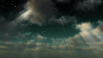 Cloud FX0305 - A Starry Sky Emerges Through Clouds and Light Rays