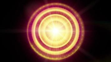 A Graphic Pulsar Star Radiating Light and Pulsating Energy