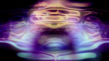 abstrakte flüssige Lichtmuster leuchten, kräuseln und leuchten video