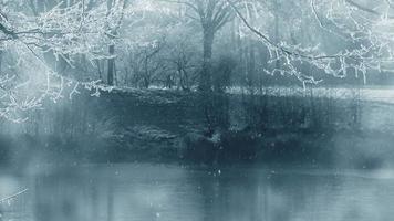 fundo de animação de cenário de inverno