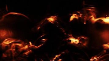 Fondo de fuego parpadeante con fallos