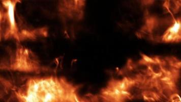 fumaça e fundo de fogo