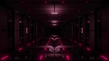 Corridoio rosso del tunnel 3d
