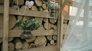 decorazioni di nozze in stile rustico video