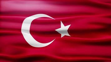bandiera della Turchia loop video