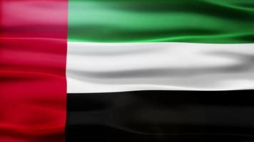 ciclo di bandiera degli emirati arabi uniti video