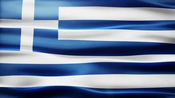 ciclo di bandiera della Grecia video