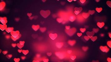 loop de fundo de corações