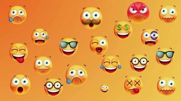 bucle de fondo de emoticonos
