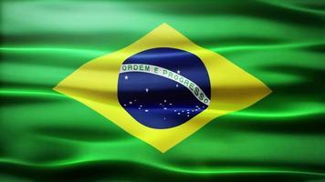 ciclo di bandiera del Brasile video