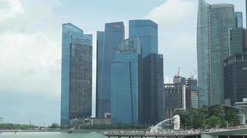 horizonte de la ciudad de singapur video