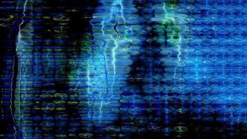 os pixels da tela da televisão flutuam com a cor e o movimento do vídeo