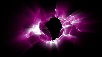 ondas fractales de luz rosa ondulante