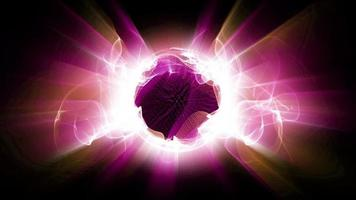 le forme di luce frattale radiale brillano video