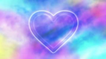 loop colorido do fundo do símbolo do coração