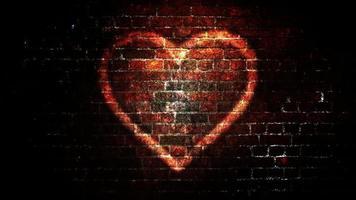 loop de fundo de símbolo de coração brilhante