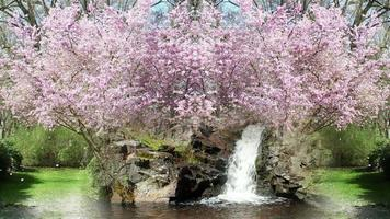 jardín de primavera de fantasía