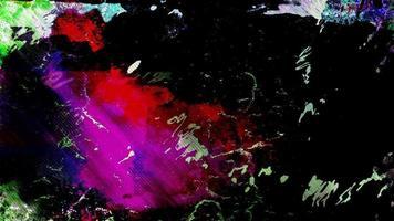 loop de fundo colorido da arte do grunge