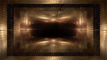 estruturas futuristas e fundo de luzes