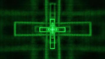 cruz cristiana resplandeciente video