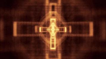 cruz cristã brilhante