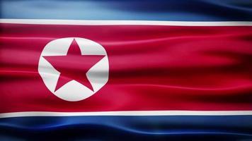 ciclo di bandiera della corea del nord video