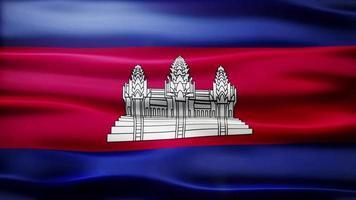 loop di bandiera della cambogia video