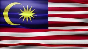 ciclo di bandiera della malesia video