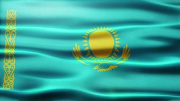 volta da bandeira do Cazaquistão