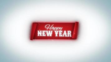 felice anno nuovo banner invernale