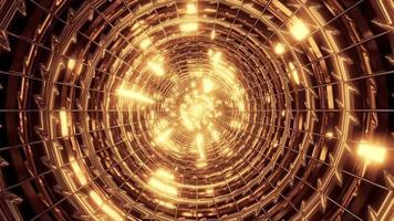 tunnel métallique abstrait