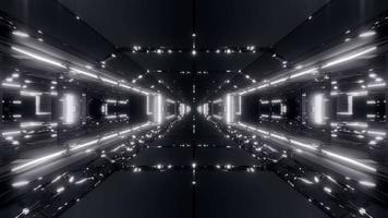 túnel de nave espacial de ciencia ficción futurista video