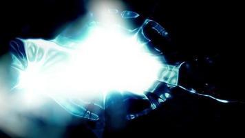 formas abstractas de luz brillan video