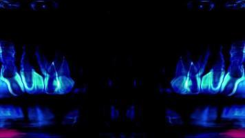 le forme di luce della tecnologia futuristica brillano