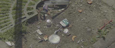 lixo de uma cidade