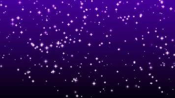 Sterne funkeln auf violettem Hintergrund