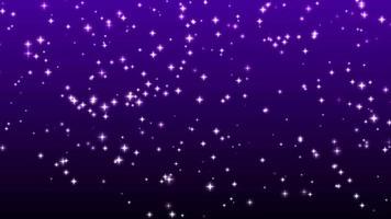 Stars Sparkle On Violet Background video