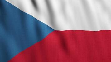 Czech Flag Waving