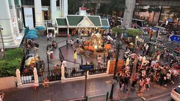 The Erawan Shrine at Ratchaprasong Intersection in Bangkok, Thailand. video