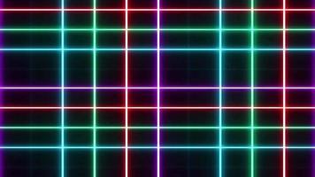 neón de luz abstracta sobre fondo negro