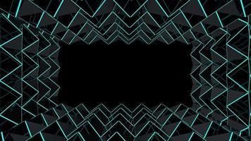 grille de triangle sombre futuriste video