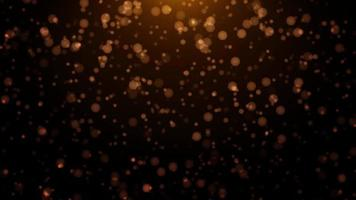 schwimmende goldene Staubpartikel mit Bokeh