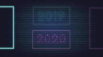 ano de 2019 muda para feliz ano novo de 2020 video