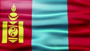 bandiera della mongolia loop video