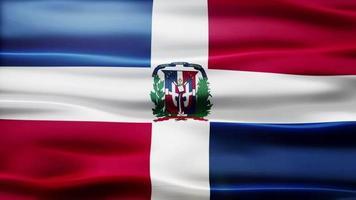 lazo de la bandera de la república dominicana