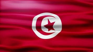 loop da bandeira da tunísia