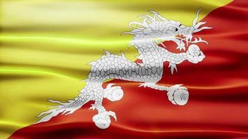 ciclo di bandiera del bhutan video