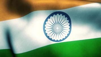bandeira indiana balançando ao vento animação em loop de videoclipe